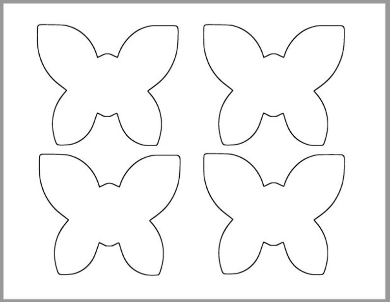 photograph regarding Printable Butterfly Template titled 4 inch Printable Butterfly Template-Butterfly Cutouts-Spring Kid Shower-Spring Clroom-Small children Crafts-Coloring Website page-Printable Template