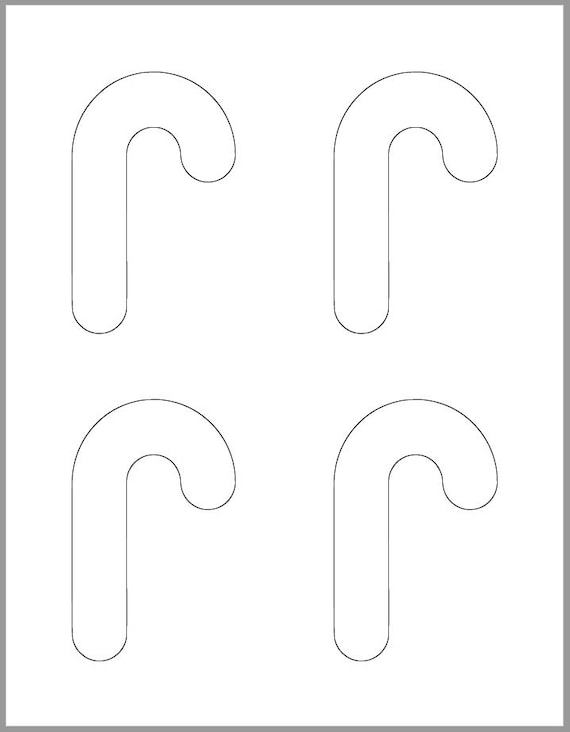 image about Candy Cane Template Printable identified as 4 inch Sweet Cane Template-Printable Template-Family vacation Templates-Sweet Cane Cutout-Small children Xmas Crafts-Vacation Get together