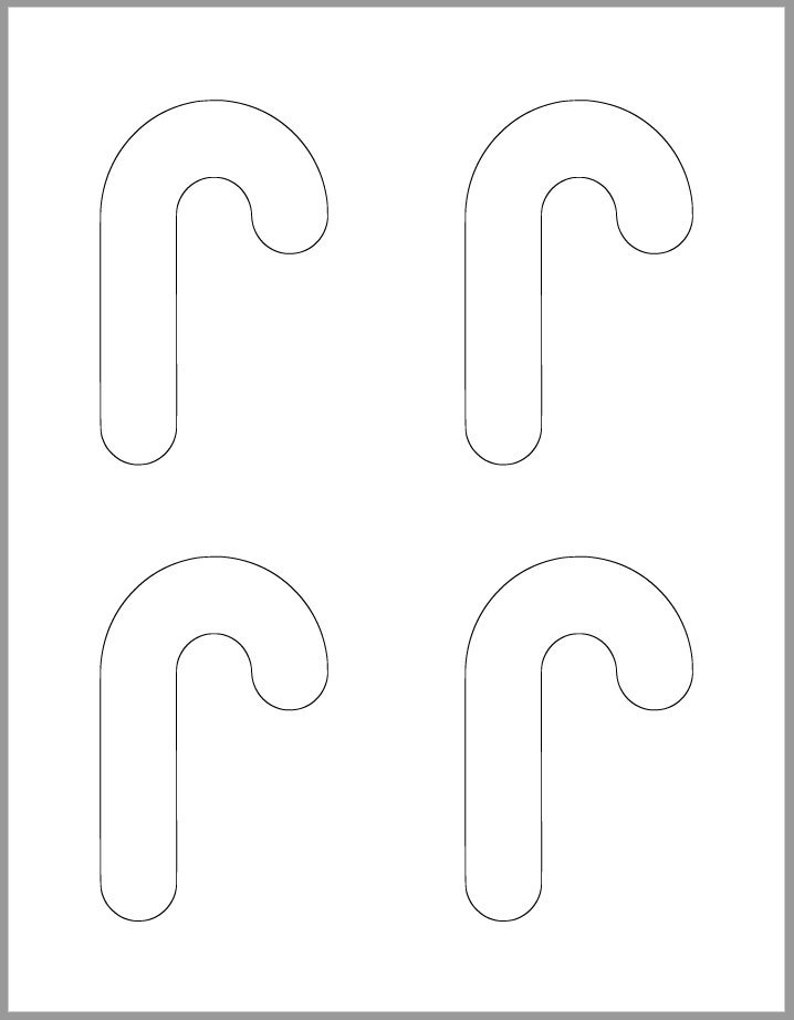 picture about Candy Cane Template Printable called 4 inch Sweet Cane Template-Printable Template-Trip Templates-Sweet Cane Cutout-Little ones Xmas Crafts-Trip Occasion
