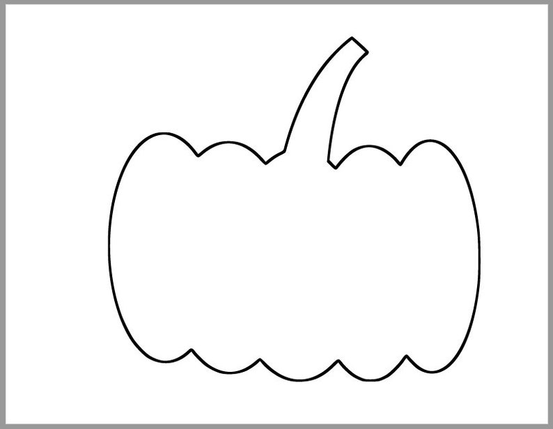 image relating to Pumpkin Printable Templates identify 7 inch Pumpkin Template-Printable Templates-Tumble Crafts-Halloween Templates-Enormous Pumpkin Cutouts-Young children Halloween Crafts-Tumble Clroom