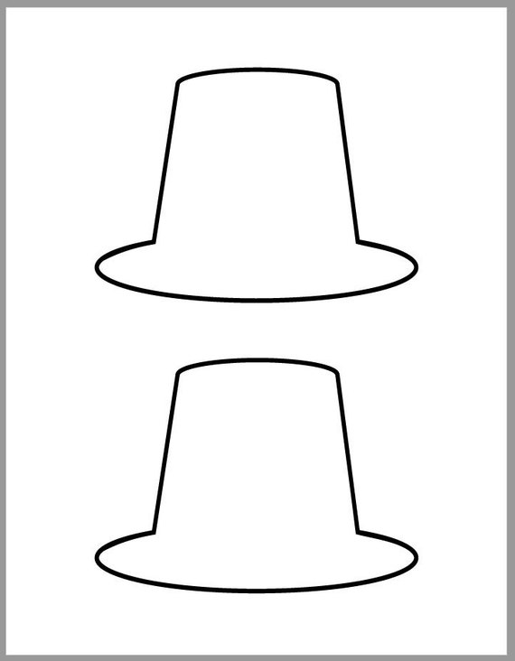 5 inch Pilgrim Hat Template-Thanksgiving Crafts-Printable ...