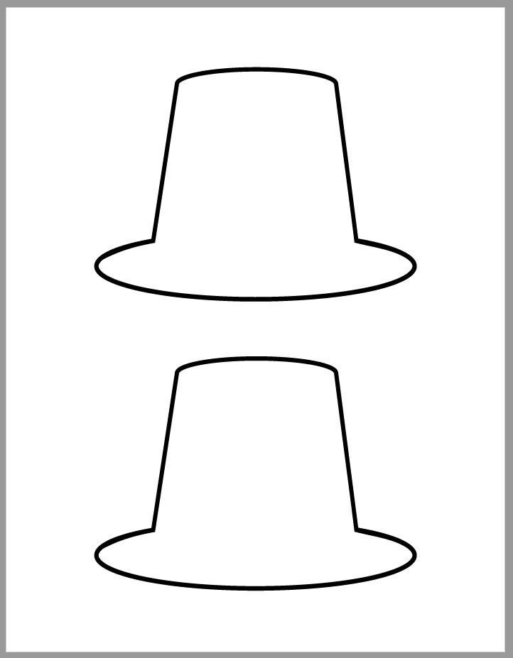 5 inch Pilgrim Hat Template-Thanksgiving Crafts-Printable ...