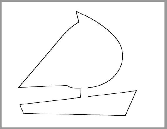 8 inch sailboat printable template large sailboat etsy