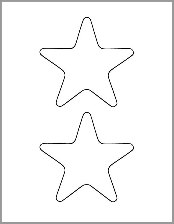 photo relating to Star Cut Out Printable named Printable Star Template-4.5 inch Starfish Cutout-Boy or girl Shower Decor-Do-it-yourself 4th of July-Little ones Crafts-Coloring Website page-Clroom Decor-Printable Star