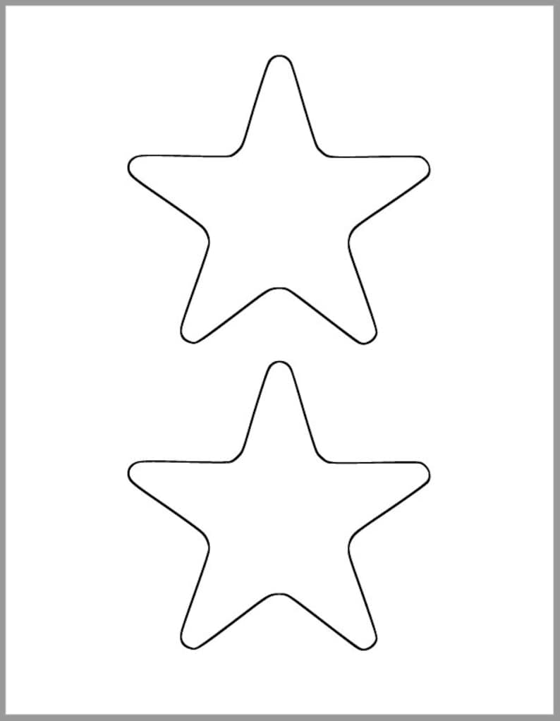 picture relating to Printable Star Template identified as Printable Star Template-4.5 inch Starfish Cutout-Youngster Shower Decor-Do-it-yourself 4th of July-Small children Crafts-Coloring Web page-Clroom Decor-Printable Star