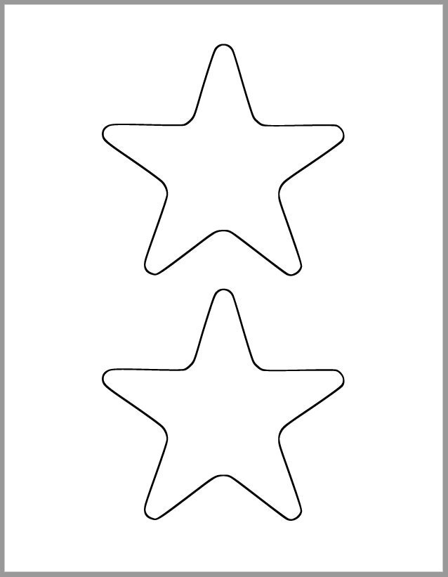 Crush image within star printable cutouts