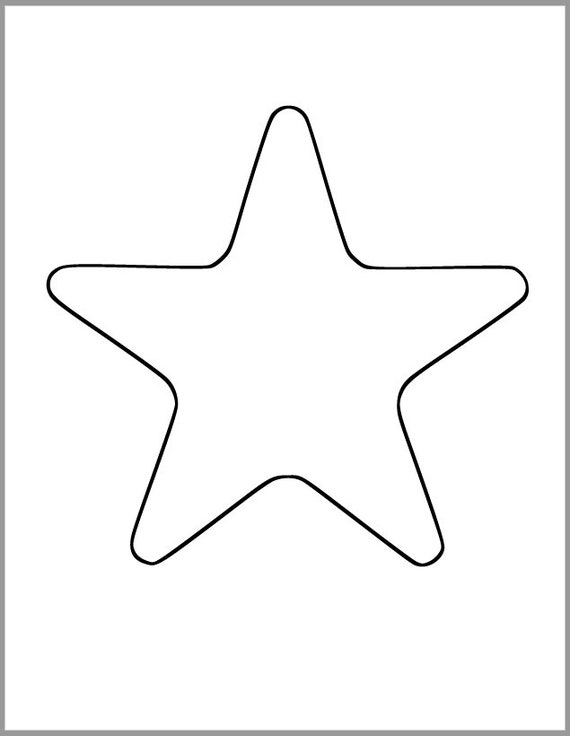 graphic about Printable Star Template called Printable Star Template-7 inch Starfish Cutout-Kid Shower Decor-Do-it-yourself 4th of July-Youngsters Crafts-Coloring Website page-Clroom Decor-Printable Star