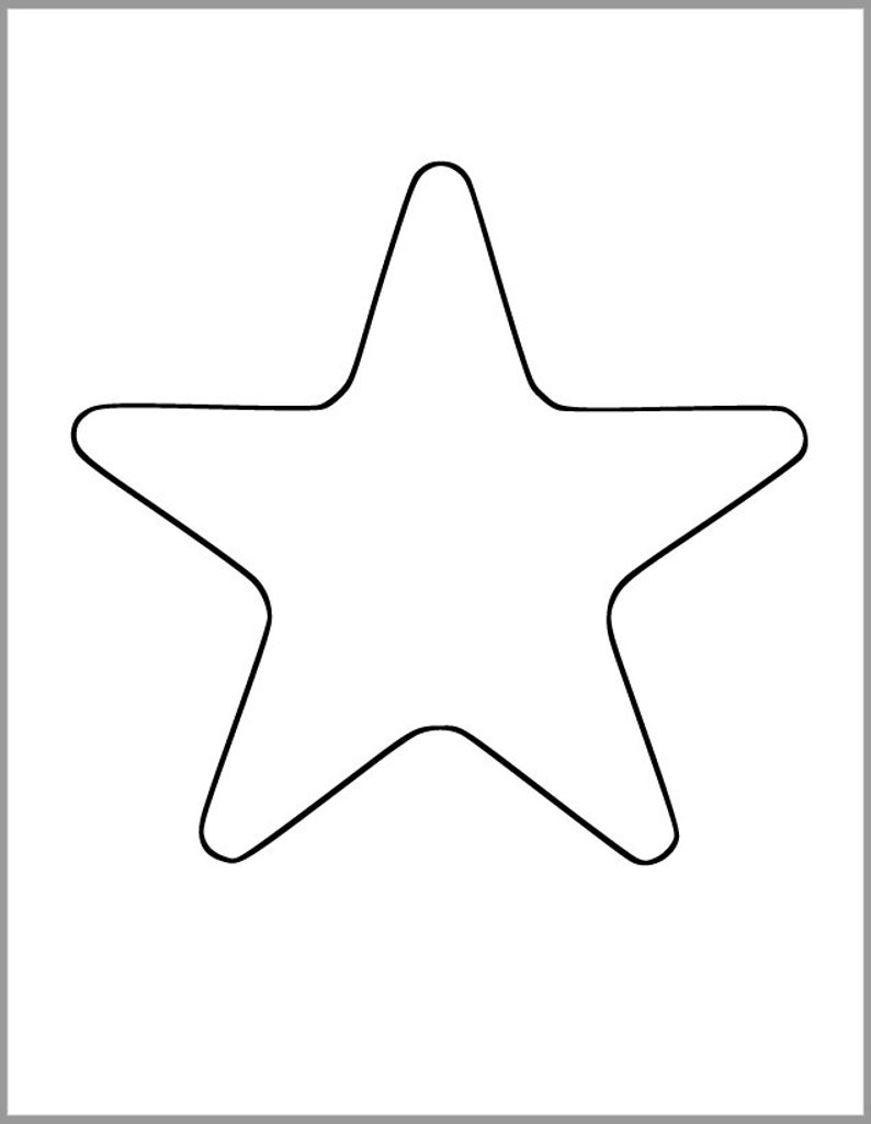 image regarding Star Printable Cutouts named Printable Star Template-7 inch Starfish Cutout-Youngster Shower Decor-Do-it-yourself 4th of July-Little ones Crafts-Coloring Website page-Clroom Decor-Printable Star