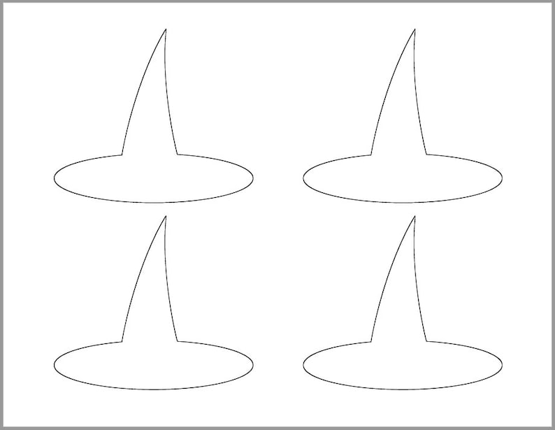 photo relating to Witches Hat Template Printable named 4 inch Witch Hat Template-Printable Template-Halloween Crafts-Coloring Web page-Halloween Template-Immediate Down load-Witch Cutout-Halloween Occasion