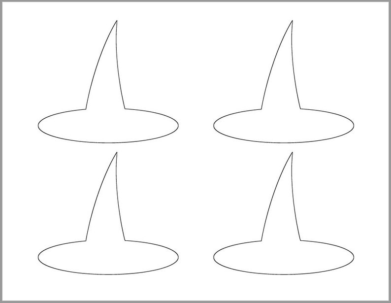 image about Witches Hat Template Printable titled 4 inch Witch Hat Template-Printable Template-Halloween Crafts-Coloring Site-Halloween Template-Prompt Down load-Witch Cutout-Halloween Social gathering