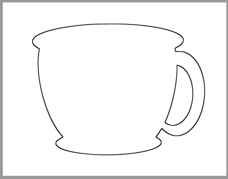 picture about Teacup Template Printable titled 8.5 inch Tea Cup Template-Printable Tea Cup-Espresso Cup Template-Tea Social gathering Decor-Espresso Keep Cutouts-Bridal Shower Do it yourself-Printable Cutouts