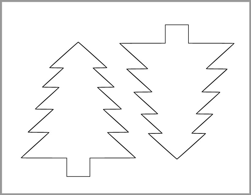 6 Inch Pine Tree Template-Printable Pine Tree Cutout