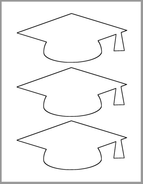 graduation cap template printable template grad party etsy