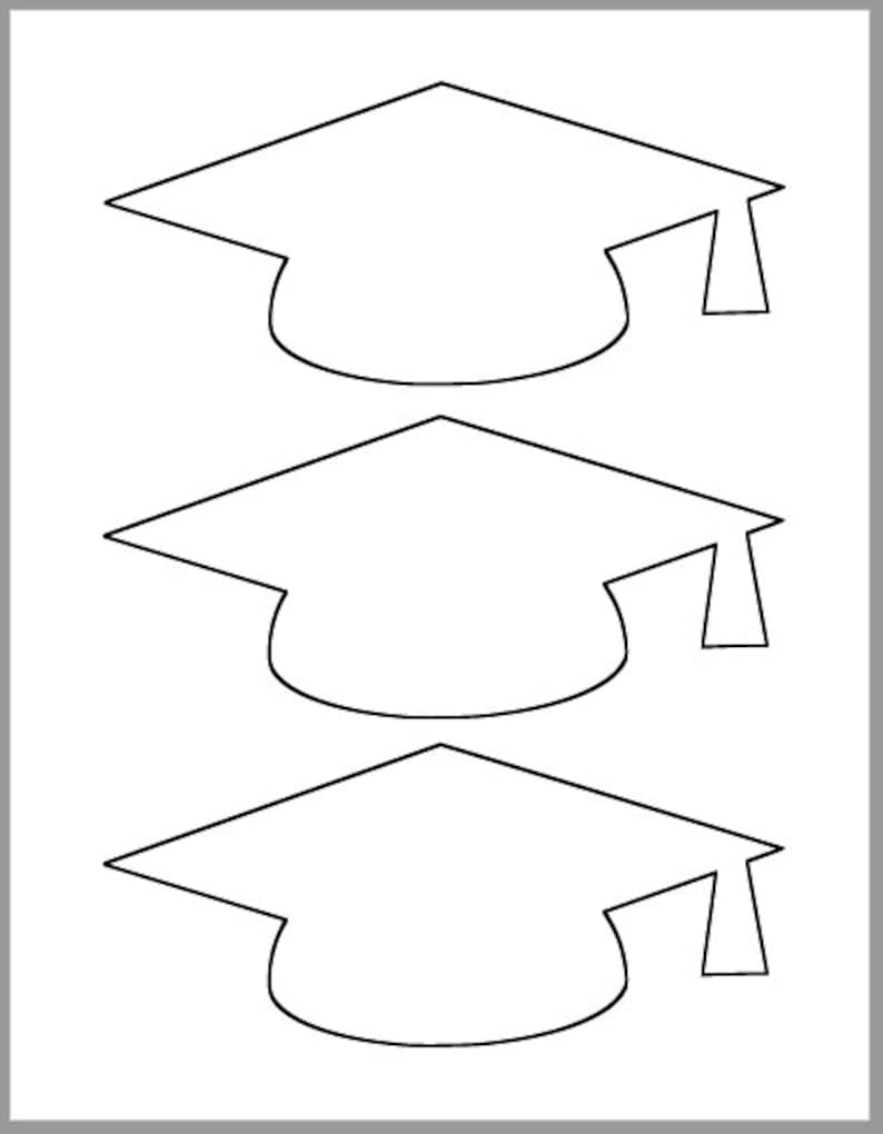 photograph relating to Printable Graduation Cap Pattern titled Commencement Cap Template-Printable Template-Grad Social gathering Decor-Commencement Suggestions Playing cards-Commencement Cutout-Heavy Grad Caps-Do-it-yourself Social gathering Decor