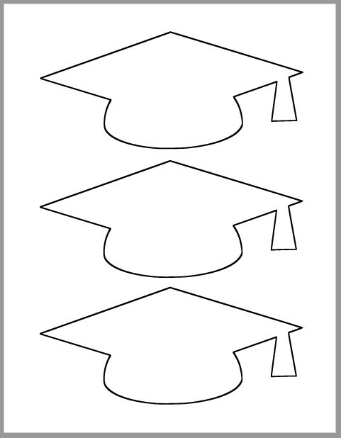 Graduation Cap Template-Printable Template-Grad Party Decor ...