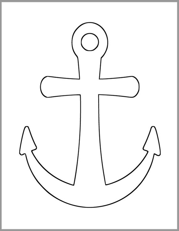 Modest image with printable anchor template