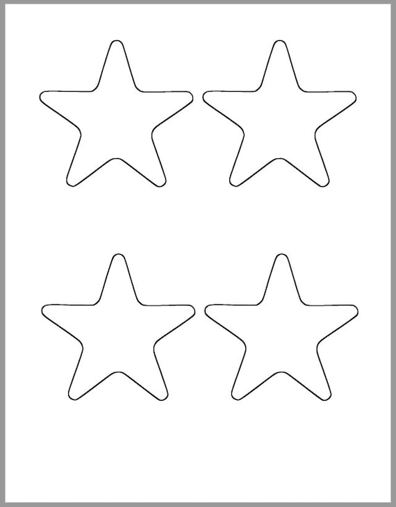 Printable Star Template 325 Inch Starfish Cutout Baby Shower Etsy