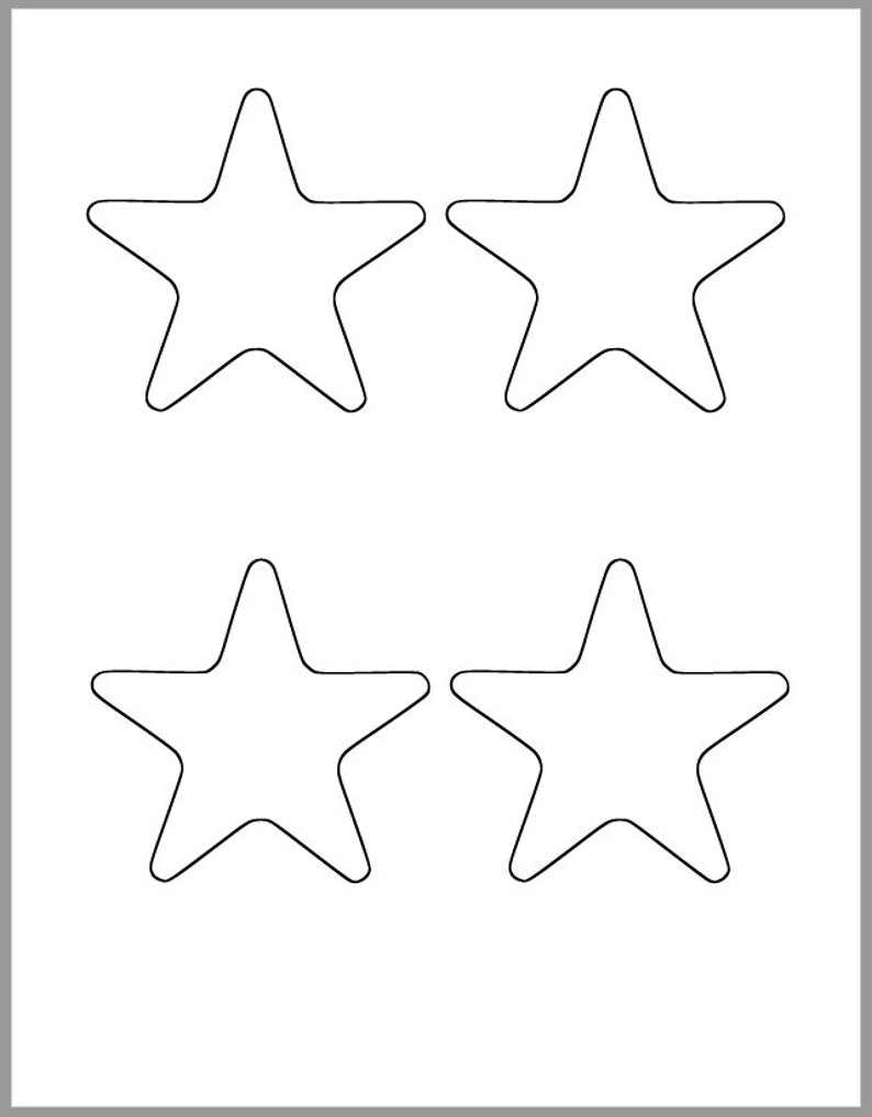 picture regarding Printable Star Template named Printable Star Template-3.25 inch Starfish Cutout-Child Shower Decor-Do-it-yourself 4th of July-Small children Crafts-Coloring Web site-Clroom Decor-Printable Star
