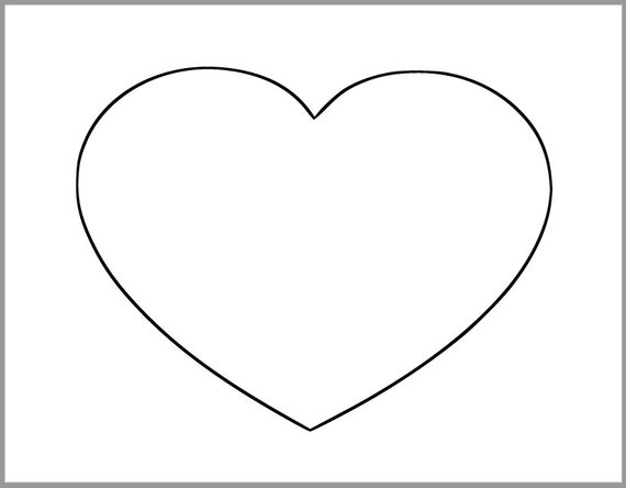 Peaceful image inside printable hearts template