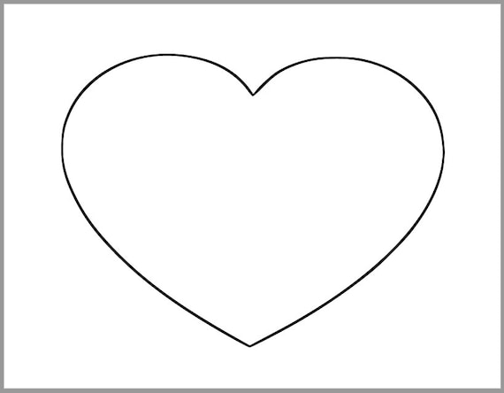 Crazy image within printable heart templates