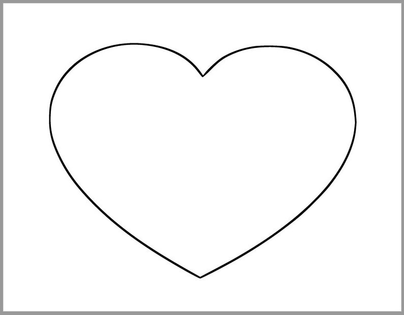 It's just a graphic of Refreshing Large Heart Template Printable
