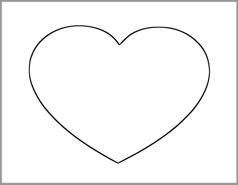 8.5 Inch Heart Printable Template-Extra Large Heart