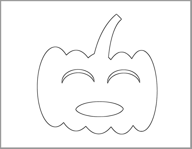 photo relating to Printable Pumpkin Template identify 7 inch Pumpkin Template-Printable Pumpkin-Halloween Crafts-Jack O Lantern Coloring Site-Halloween Template-Immediate Downloads-Pumpkin Cutouts