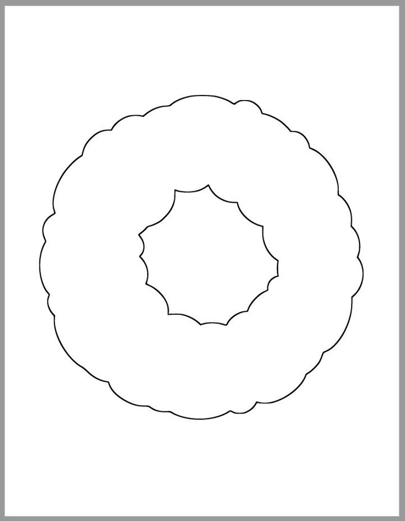 picture about Printable Wreath Template called Printable Wreath Template-PDF Down load-Xmas Cutouts-Clroom Decor-Weighty Wreath Cutout-Getaway Craft Web site-Little ones Artwork-Preschool Crafts