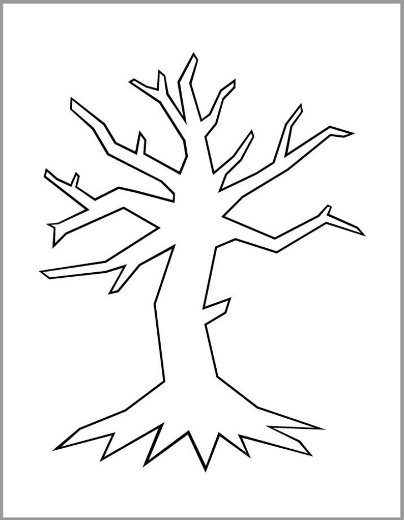 photograph relating to Halloween Crafts Printable named Printable Tree Template-PDF Down load-Halloween Crafts-Naked Tree-Tumble Artwork Assignments-Instantaneous Downloads-Coloration Website page-Tree Cutouts-Autumn Clroom