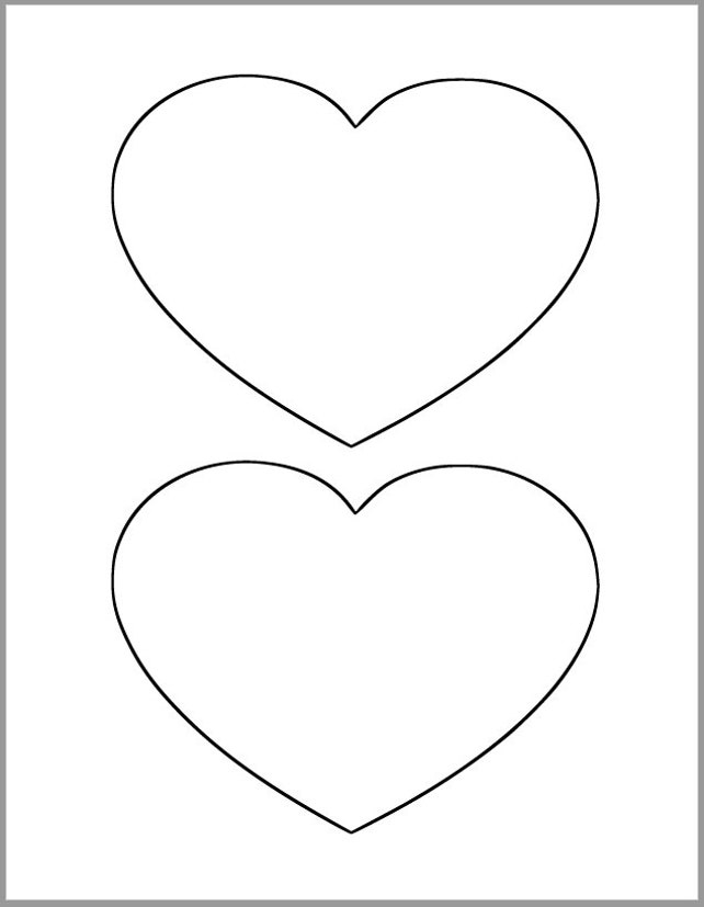 6 inch Heart Printable Template-Large Heart Cutout-Wedding and | Etsy