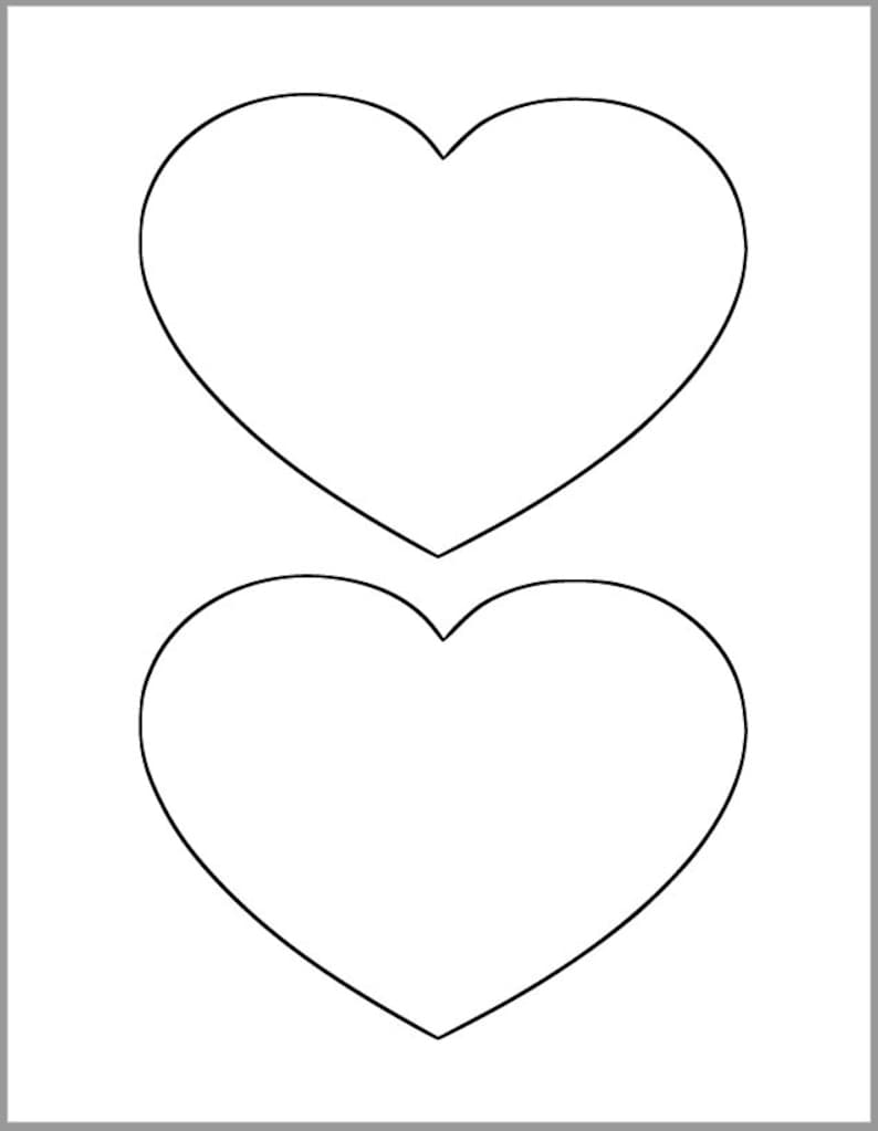 graphic relating to Printable Heart Template identify 6 inch Centre Printable Template-Weighty Center Cutout-Valentines Working day Decor-Little ones Crafts-Valentine Printable-Significant Printable Centre-Do-it-yourself Valentines