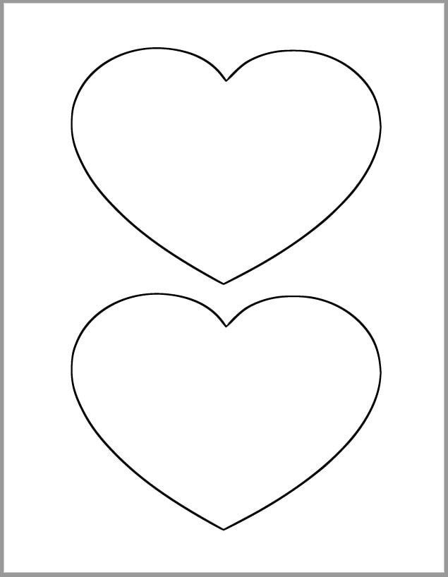 Fan image intended for printable hearts template