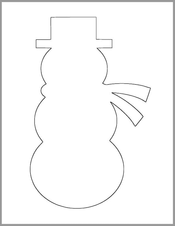 9 inch Snowman Printable Template-Instant Download-Classroom | Etsy