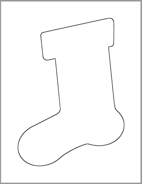 christmas stocking template cut out  6 inch Stocking Template-Printable Template-Holiday Templates-Stocking  Cutout-Kids Christmas Crafts-Holiday Party-Christmas Stockings