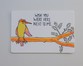 Missing You - Postcard Set. Social Distancing - Quarantine Themed - Neon Colored