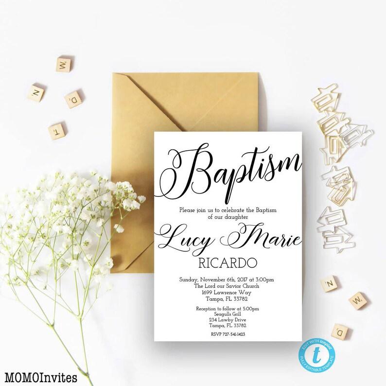 Taufe Einladung Vorlage Druckbare Taufe Einladung Sofortiger Download Taufe Vorlage Geschlecht Neutral Tafel Taufe Vorlage