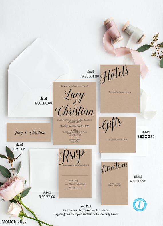 Wedding template wedding invitation template suite diy stopboris Choice Image