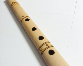 Handmade Bamboo indonesian Flute with decorations