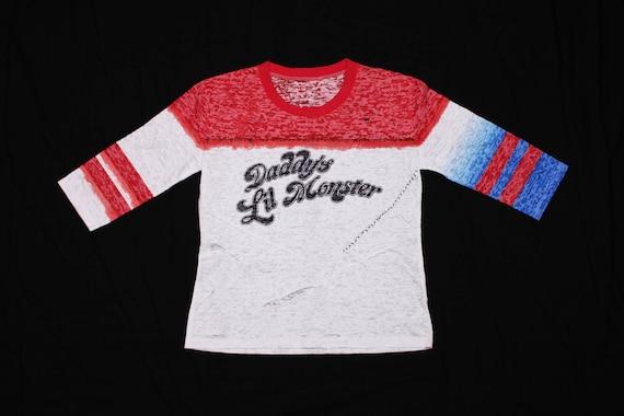 70212939c Harley Quinn Daddys Lil Monster 3/4 Shirt Burnout T-shirt | Etsy