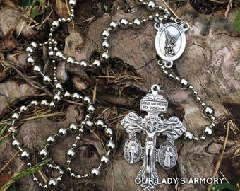 WWI Battle Rosary - Saint Michael & Three-Way Pardon Crucifix