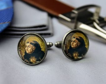 Catholic Cufflinks | Thomas Aquinas Cufflinks