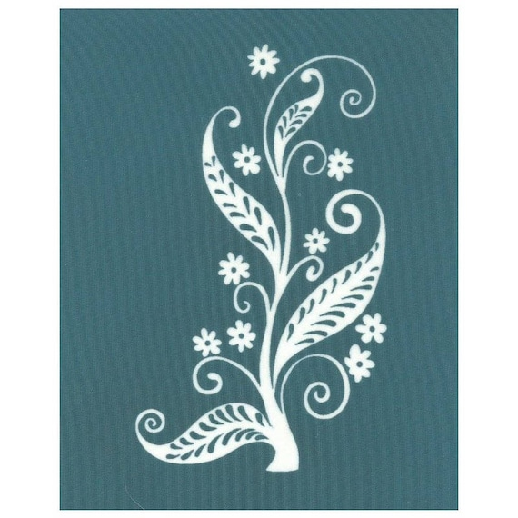 Ceramic Glass DIY Silk Screen Printing Stencil Rose Pattern for Fabric Wood