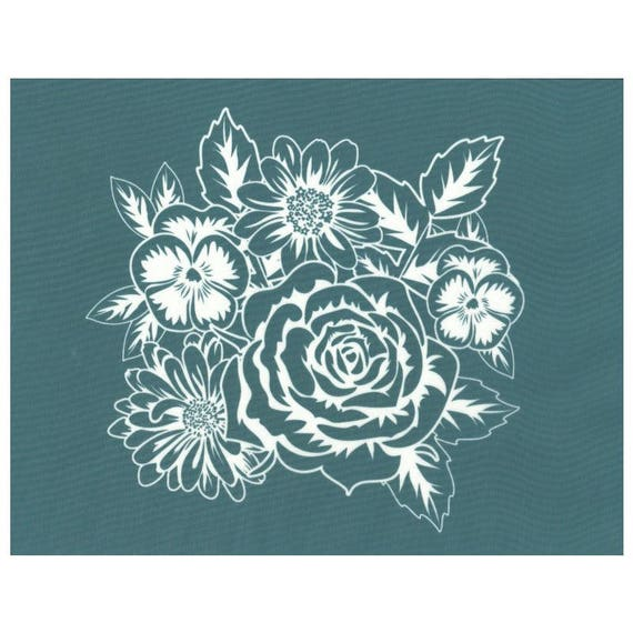 DIY Silk Screen Printing Stencil  Letter Flower Print on T-shirt Bag Glass Tiles