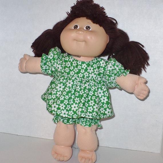 "13/"" My Child Dolls White w//Green Wreaths Print Dress set fits 11/""CP Preemie"