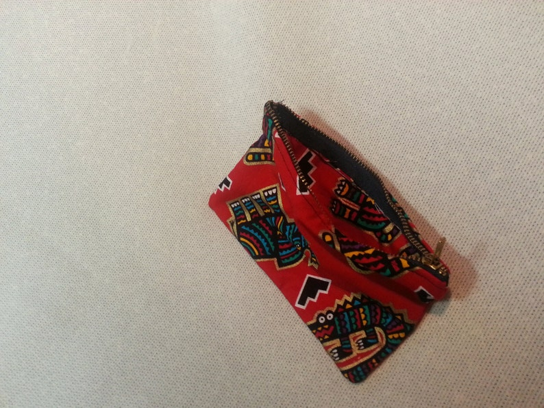 Small Tribal Red ChangeJewelry Purse