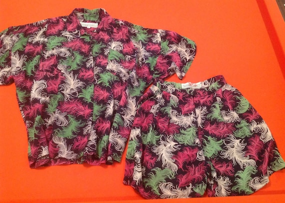 Vintage 1980's Norma Kamali Shirt and Short set