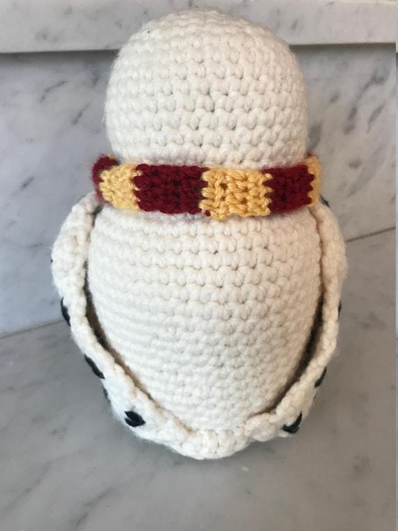 Crochet snow owl christmas ornament - mallooknits.com | 760x570