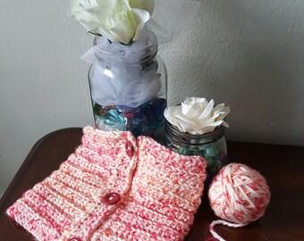 Citrus Crochet Button Up Cowl Neckwarmer