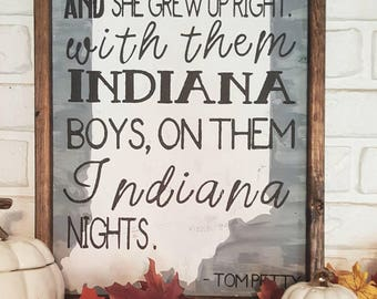 TOM PETTY INDIANA sign