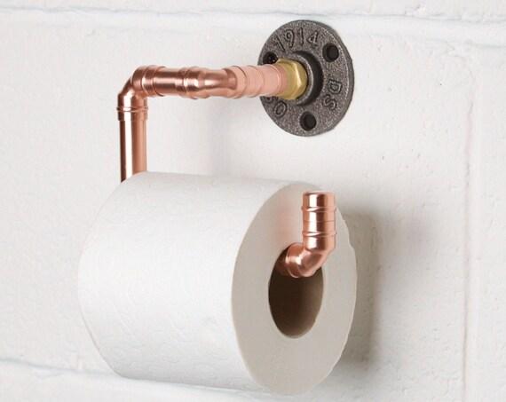 Industrial Copper Toilet Roll Holder